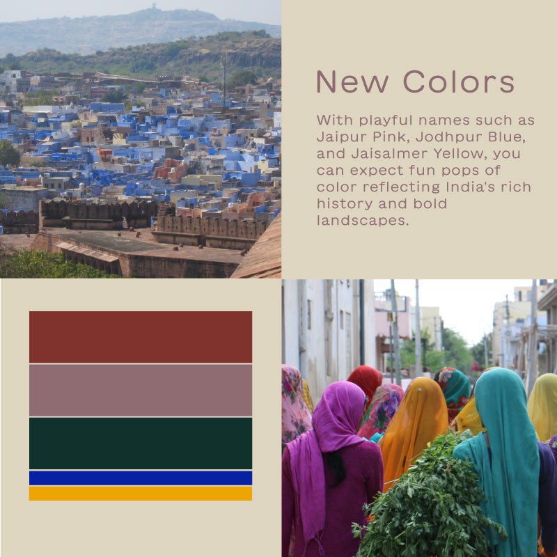 New color palette inspired by the vibrant colors of India