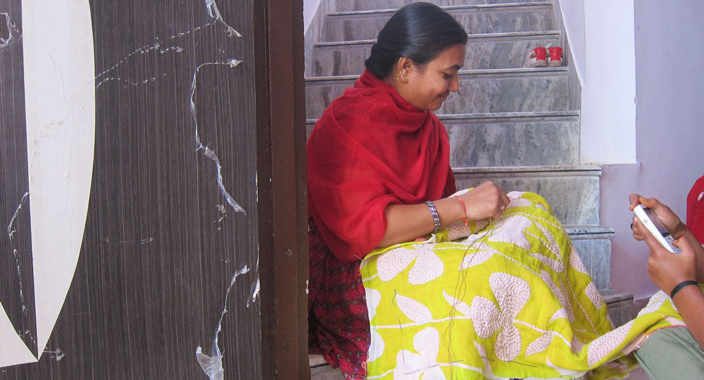 anchal artisans stitching india design