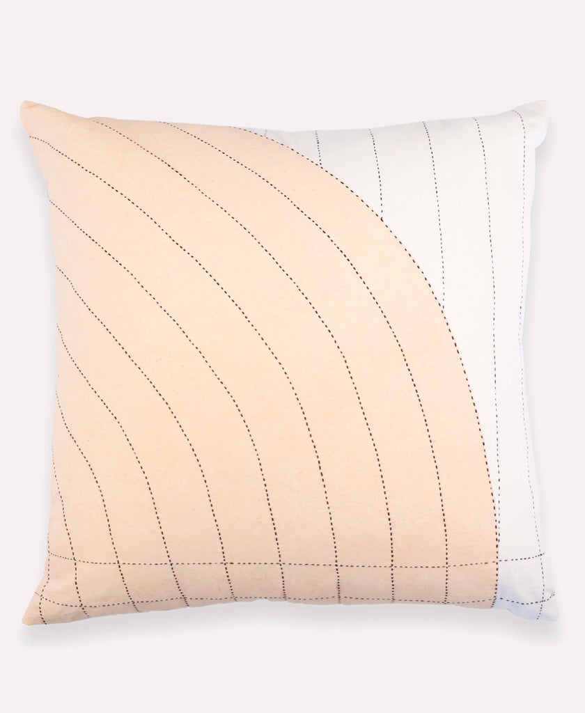"Anchal Project blush curve 22"" pillow made from organic cotton"
