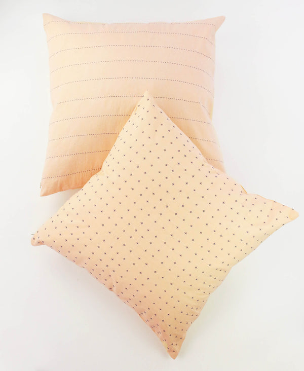 modern organic cotton Fair Trade throw pillow in blush