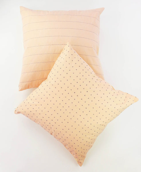 "22"" Blush Pin Toss Pillow - Paired with Blush Cross Toss 