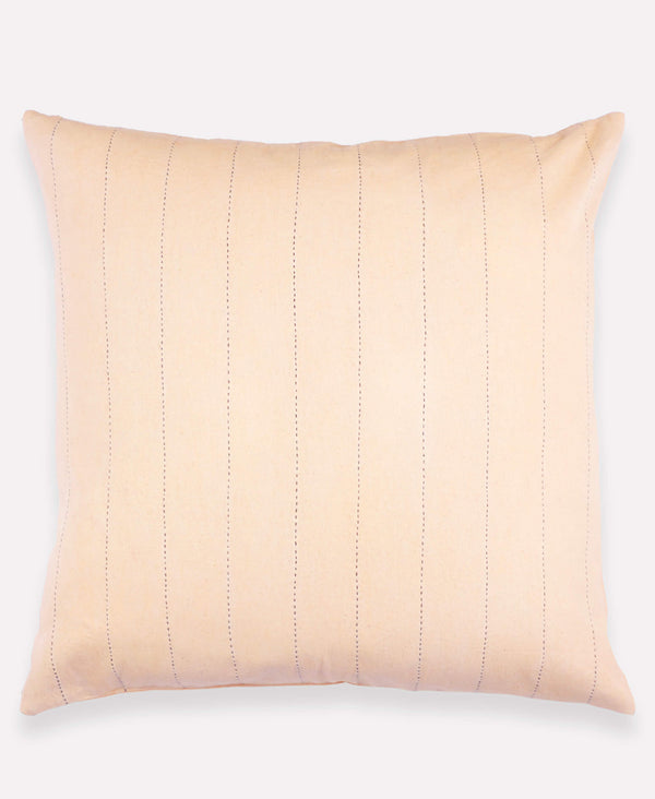 Anchal Project line stitch throw pillow in blush