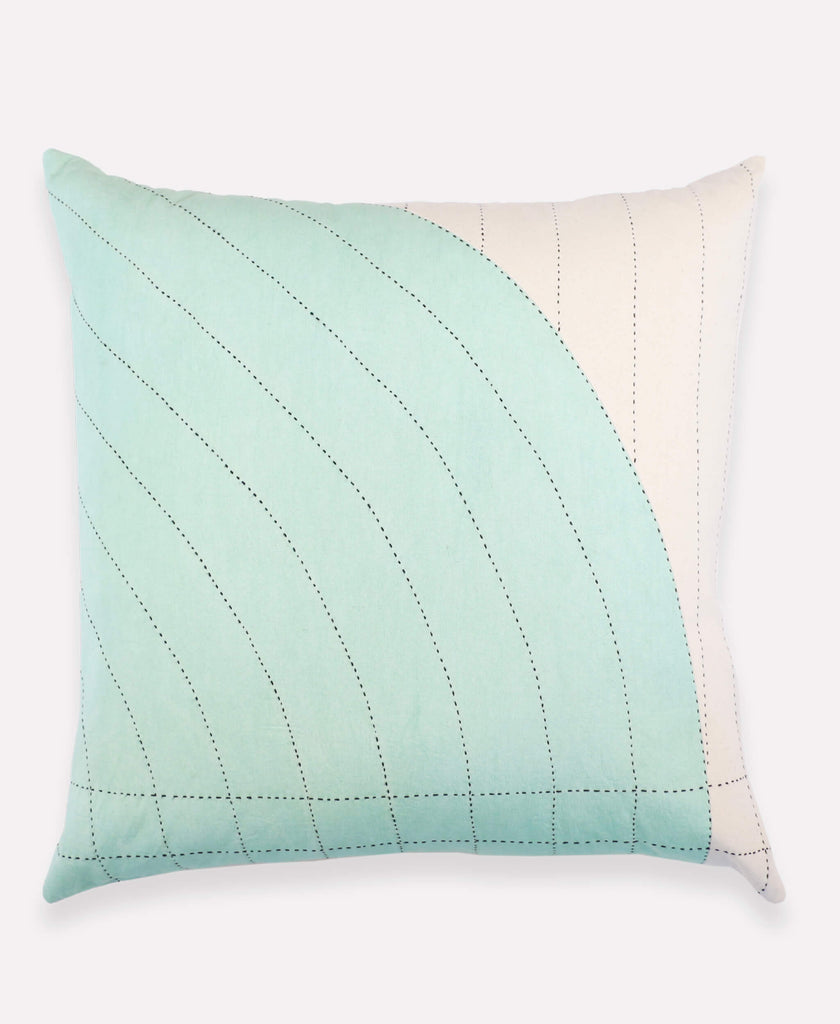 Anchal Project mint green curve throw pillow