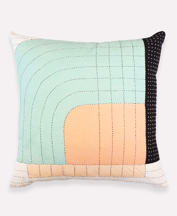 Anchal Project Seema throw pillow hand-stitched by artisans in India