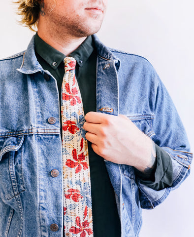Hand-stitched Cotton Men's Tie - Lifestyle | Anchal Project