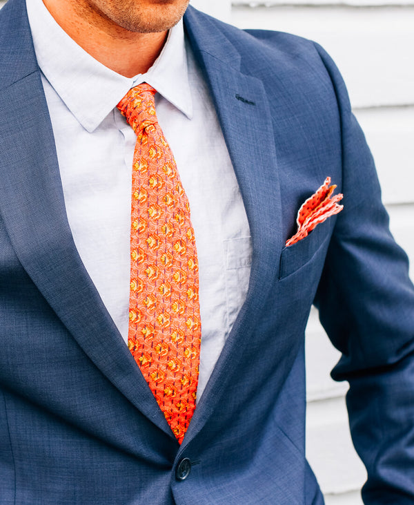 casual cotton skinny tie