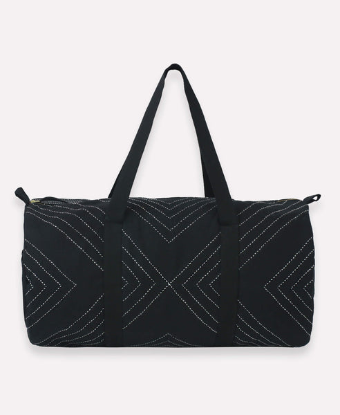 Arrow Weekender Travel Bag - Black | Anchal Project
