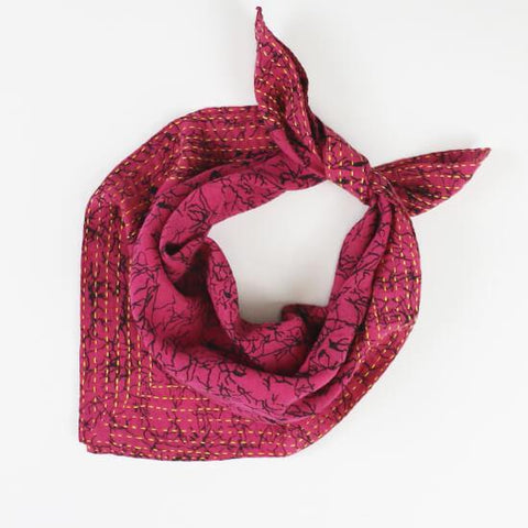 Bandana Scarf - Magenta Crackle | Anchal Project