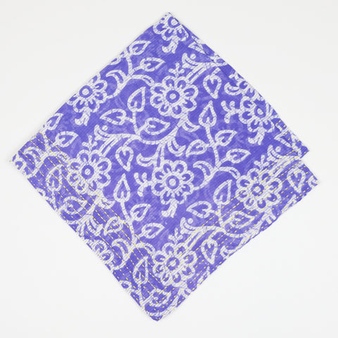 Bandana Scarf Periwinkle Flowers | Anchal Project