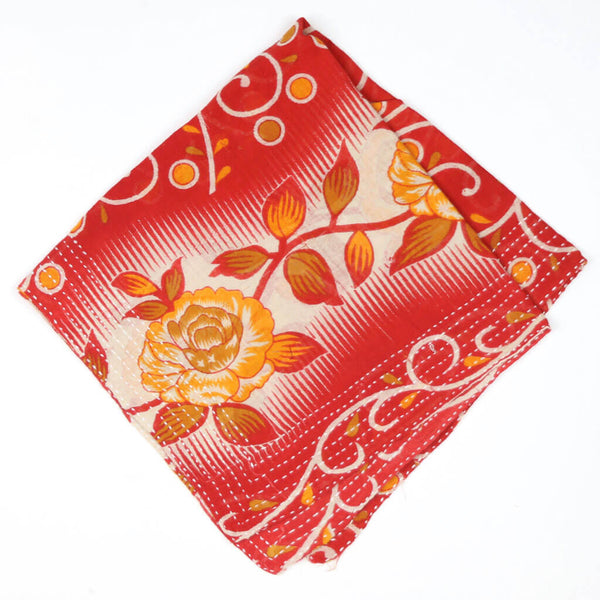 Bandana Scarf - Orange and Red Rose | Anchal Project