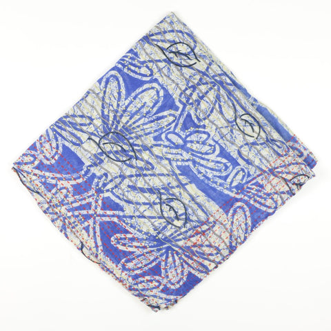 Bandana Scarf Periwinkle Leaves | Anchal Project