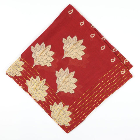 Bandana Scarf Red Lotus | Anchal Project