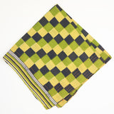 Bandana Scarf - Lime Green and Navy Checkers | Anchal Project