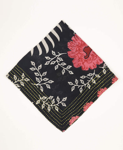 Bandana Scarf - Navy Blue Gardens | Anchal Project