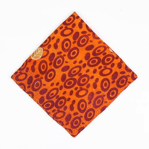 Orange Circles | Vintage Bandana Scarf