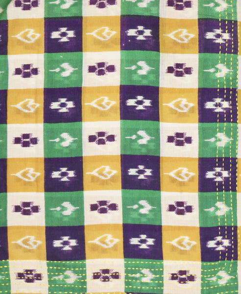 Bandana Scarf - Purple Checkers | Anchal Project