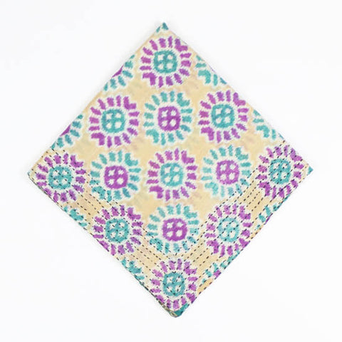 Purple Sunflower | Vintage Bandana Scarf