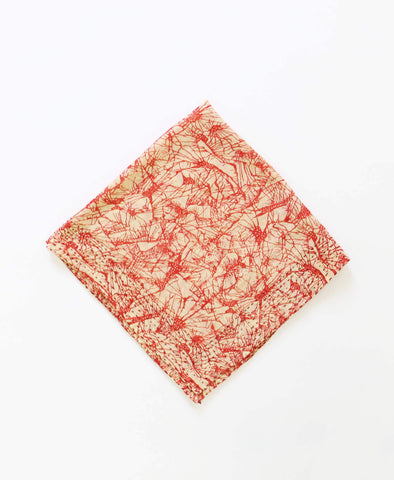 Bandana Scarf - Red Abstract | Anchal Project