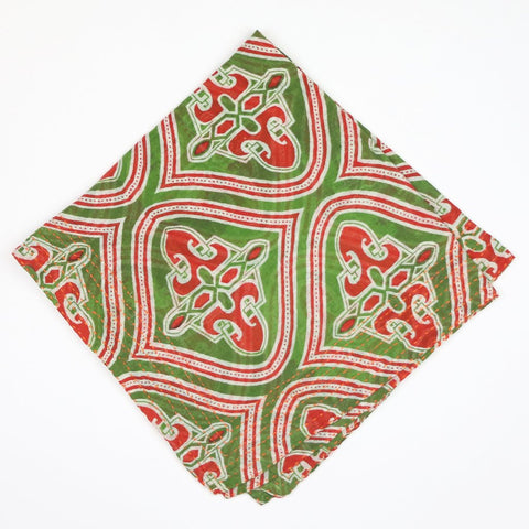 Bandana Scarf - Red and Green Medallion | Anchal Project