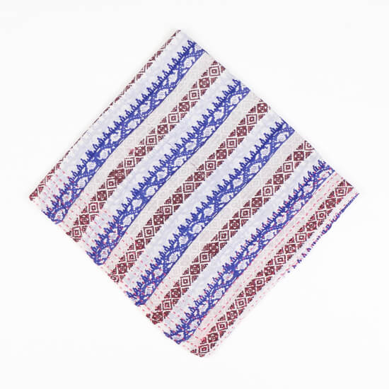 Royal Blue Stripes | Vintage Bandana Scarf