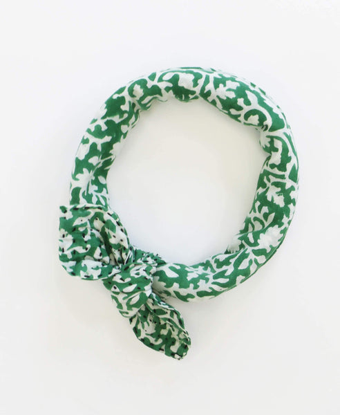Bandana Scarf - Seaweed Vines | Anchal Project