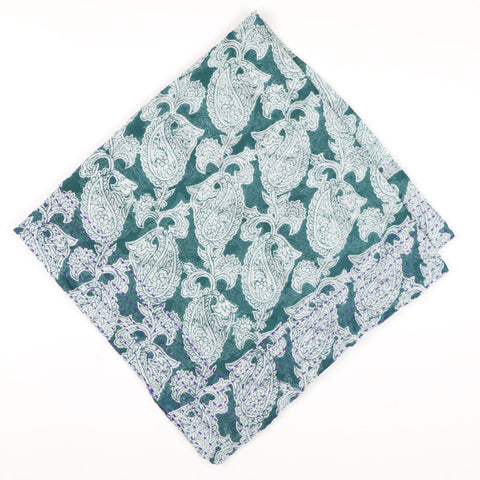 Bandana Scarf Turquoise Paisley| Anchal Project