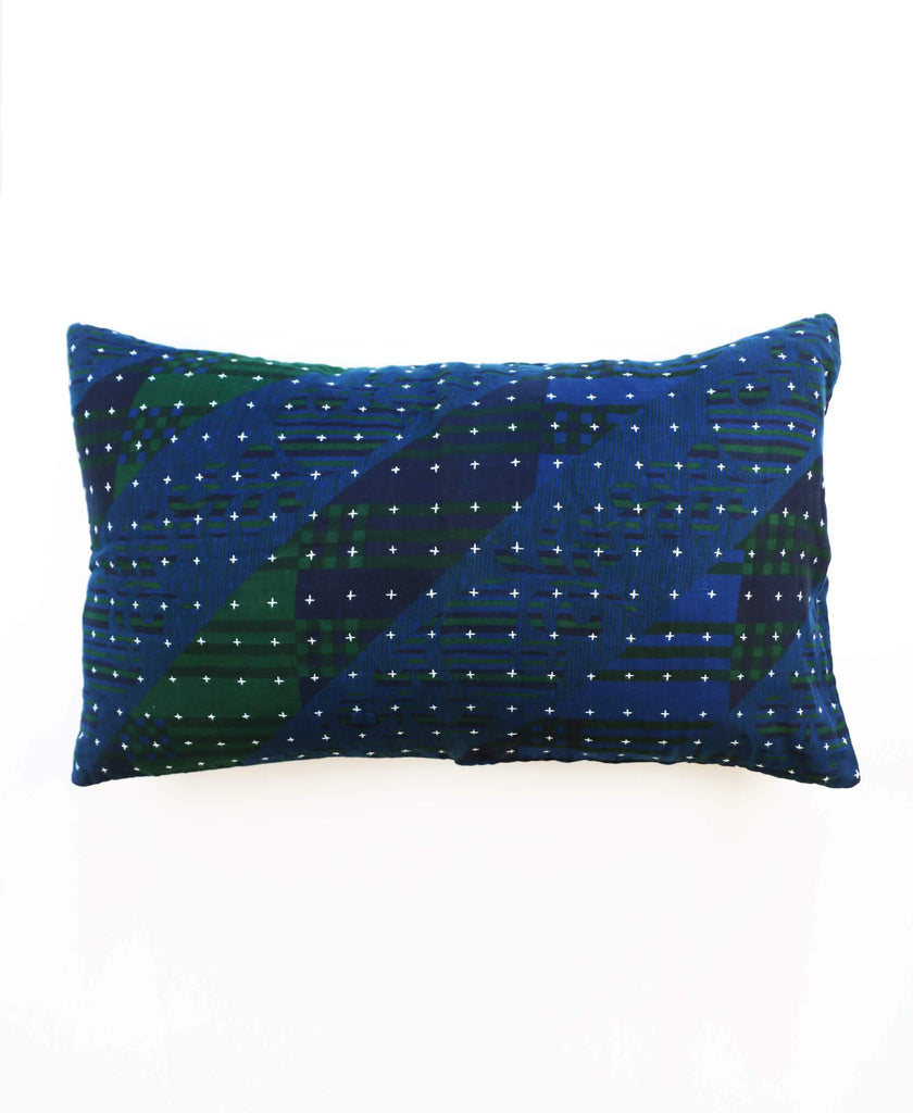 cross-stitch embroidered overdyed throw pillow by Anchal Project