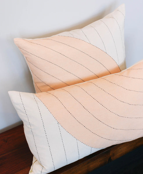 Blush Curve Lumbar Pillow - Curve Pillow Pair | Anchal Project