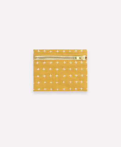 Coin Purse - Gold Cross Stitch | Anchal Project