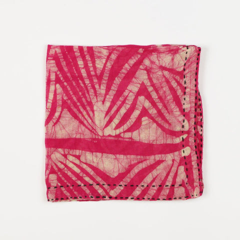 Hand Stitched Cotton Pocket Square - Blush Tie Dye | Anchal Project