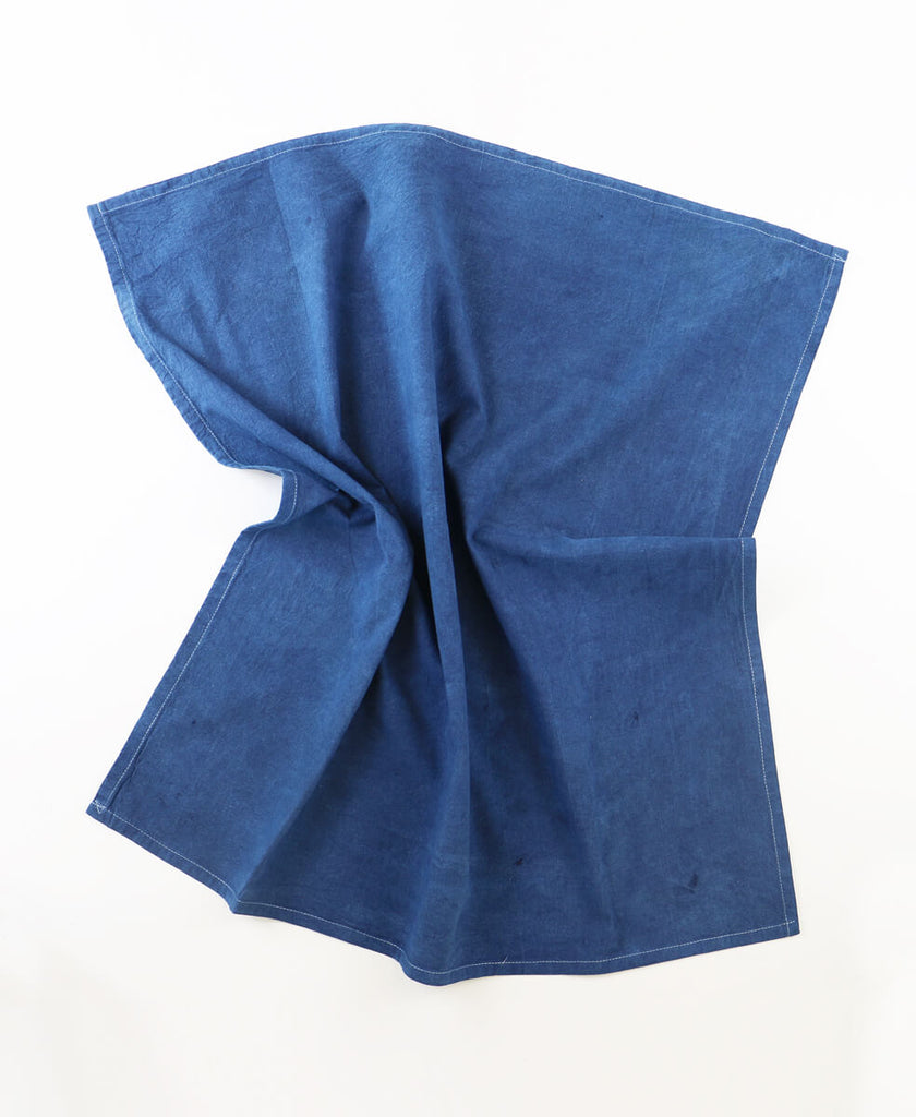 eco-friendly and hand-dyed tea towel made using indigo leaves