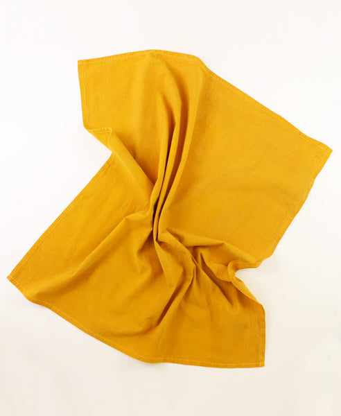 Hand Dyed Tea Towel - Marigold | Anchal Project
