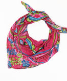Handmade Cotton Square Scarf - No. 190379