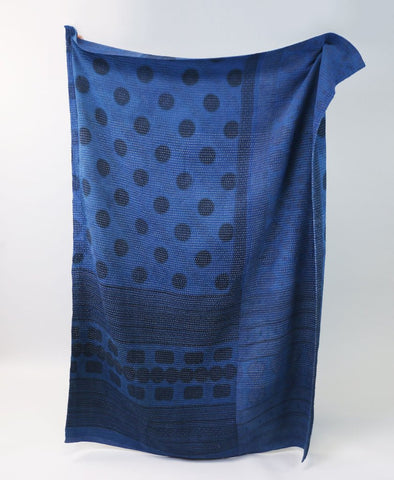 Large Dark Indigo Throw
