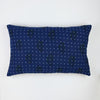 hand-embroidered throw pillow made from vintage cotton saris