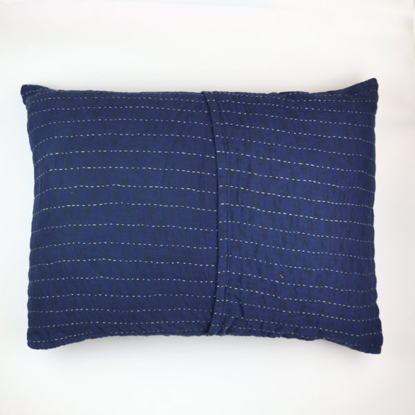 Indigo Overdyed Hand-Stitched Pillow