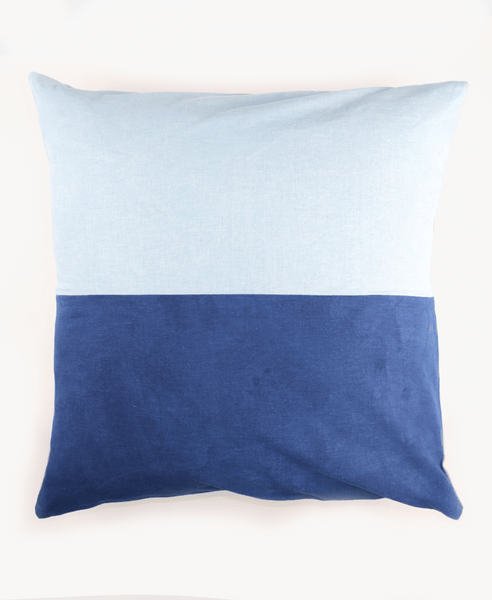 Indigo Color Block Toss Pillow | Anchal Project