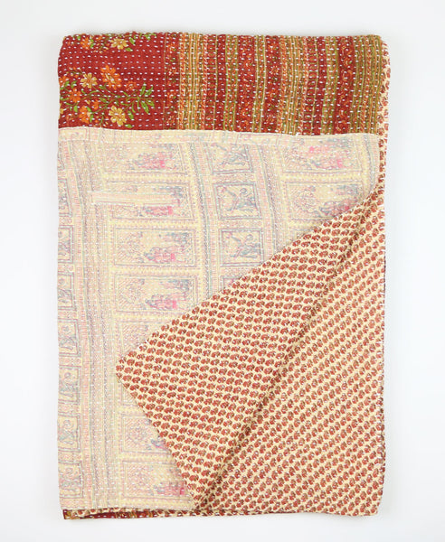 Kantha Throw Quilt - Cream | Anchal Project