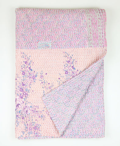 Kantha Throw Quilt - Floral | Anchal Project