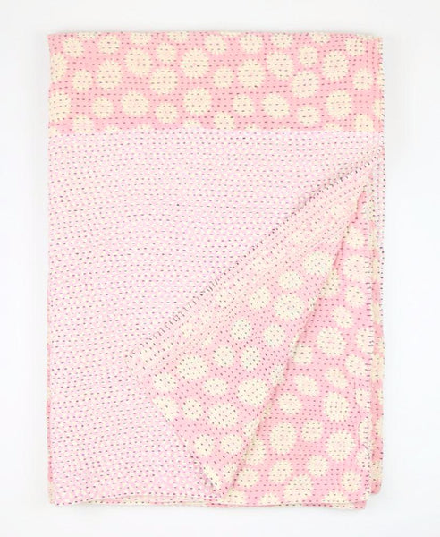 Kantha Throw Quilt - Pink | Anchal Project