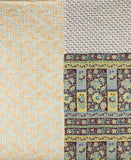 Kantha Throw Quilt - Sky Paisley