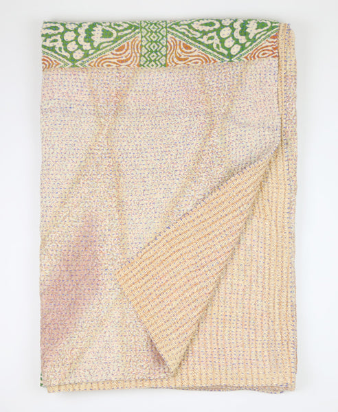 Kantha Throw Quilt - Tan | Anchal Project