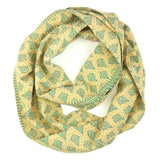 Kantha Infinity Scarf - Light Yellow Pines | Anchal Project