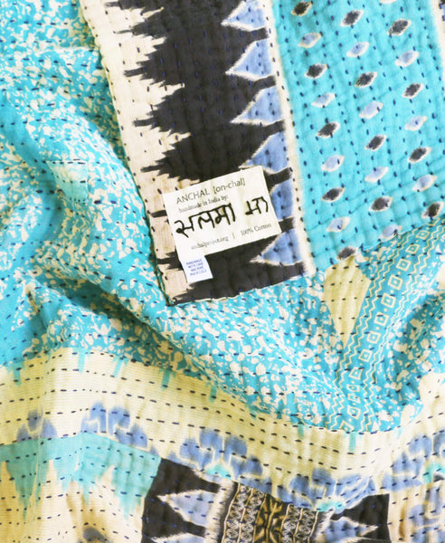 Kantha Throw Quilt - No. 190301 | Anchal Project