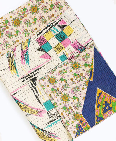 Kantha Throw Quilt - No. 190302 | Anchal Project