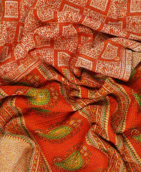 Kantha Throw Quilt - Clementine Boxes | Anchal Project
