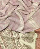 Kantha Throw Quilt - Cream and Peach Flower | Anchal Project