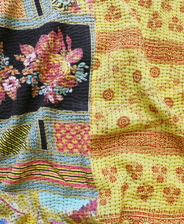 Kantha Throw Quilt - No. 190309 | Anchal Project