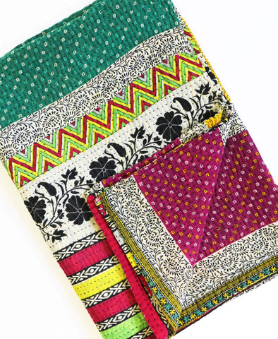 Kantha Throw Quilt - No. 190312 | Anchal Project