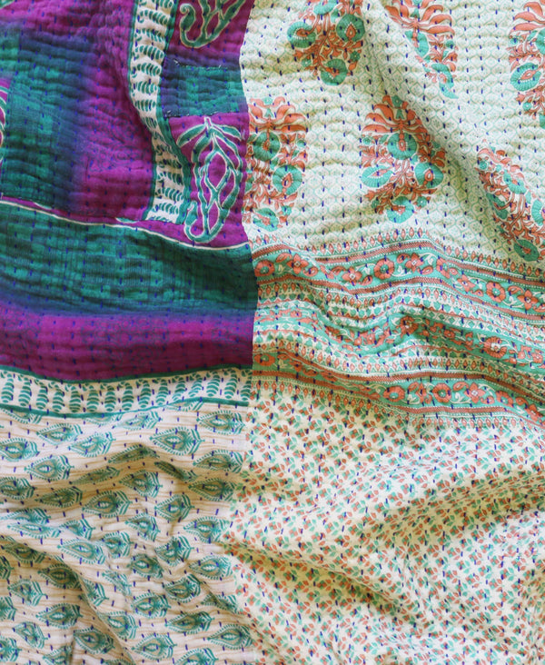 Kantha Throw Quilt - No. 190321 | Anchal Project